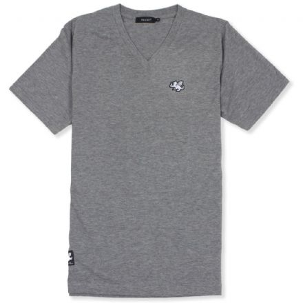 Senlak V-Neck Triblend Logo T-shirt - Light Grey
